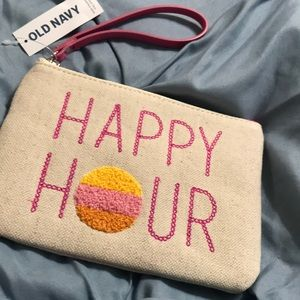 🆕 Old Navy 'HAPPY HOUR' wristlet